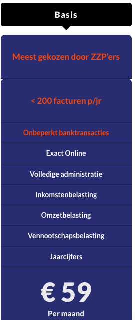 Online boekhouden Basis pakket