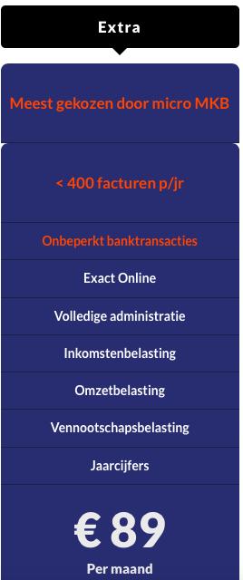 Online boekhouden Extra pakket