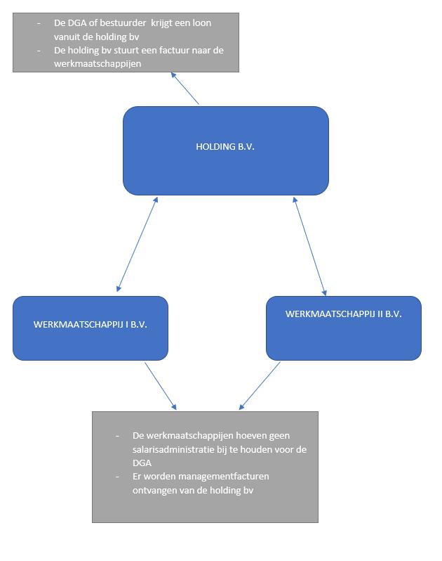 voorbeeld van een holding bv schematisch